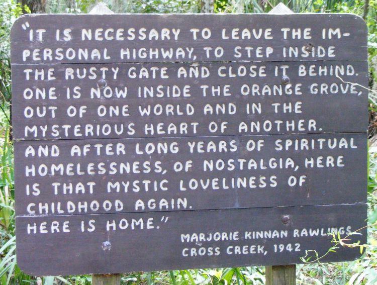 Cross Creek Sign