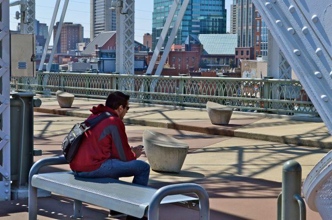 Street Life--messages on the bridge