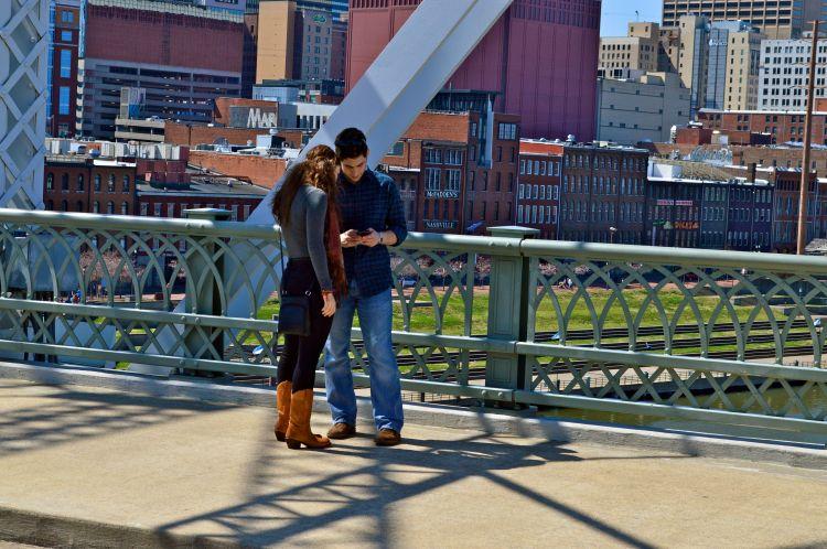 street life--messages on the bridge2
