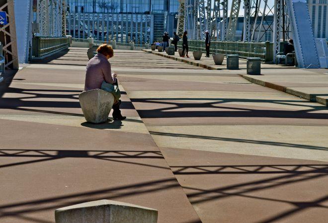 Street life--messages on the bridge3