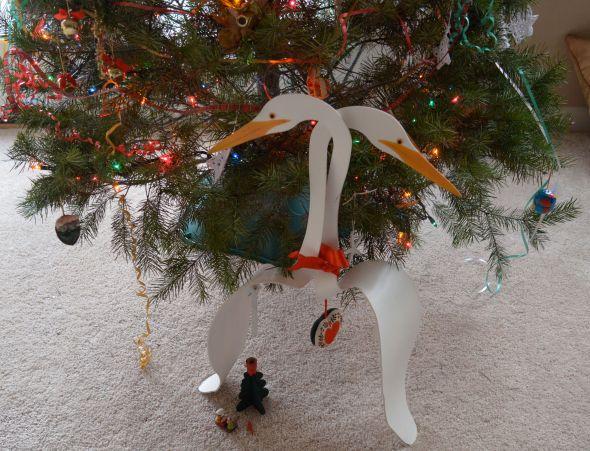 Christmas Egrets