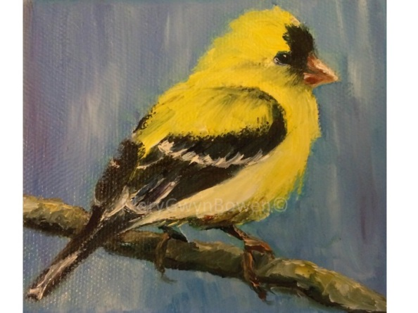 "Goldfinch Miniature 4"" x 4"""